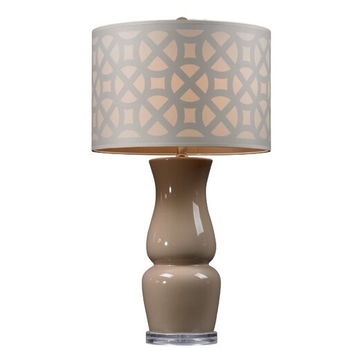 "HGTV Home Overexposed 27"" H Table Lamp with Drum Shade"