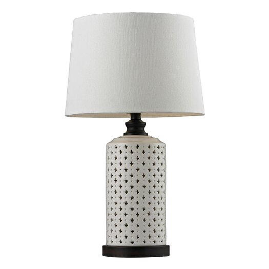 "HGTV Home Open Work Ceramic 23"" H Table Lamp with Empire Shade"