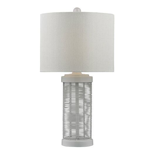 "HGTV Home Graphic Control Wire 24"" H Table Lamp with Drum Shade"
