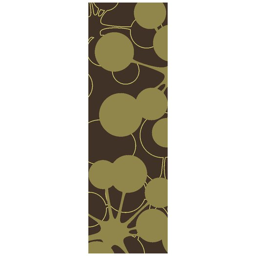 Jef Designs Bubble Brown/Green Area Rug