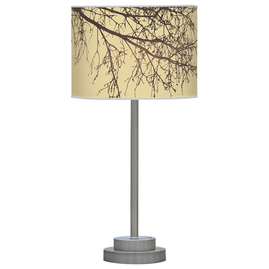 "Jef Designs Organic Modern Branch Stem 24"" H Table Lamp with Drum Shade"