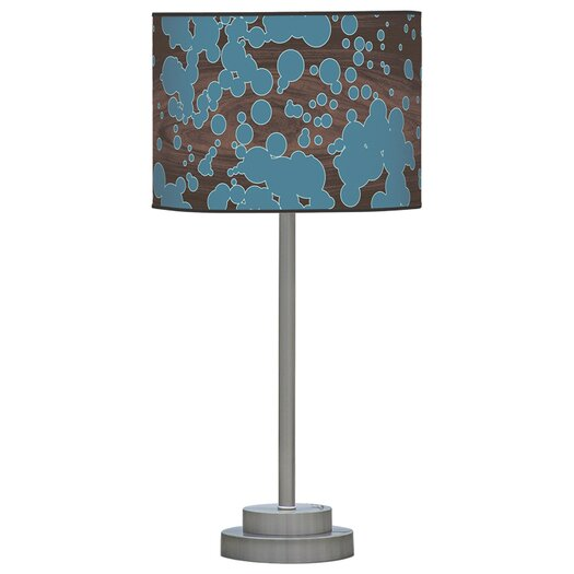 """Jef Designs Organic Modern Fizzy Stem 24"""" H Table Lamp with Drum Shade"""