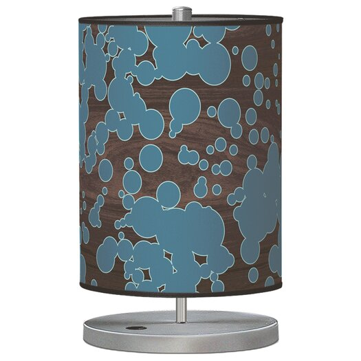 "Jef Designs Organic Modern Fizzy Cylinder 21"" H Table Lamp with Drum Shade"