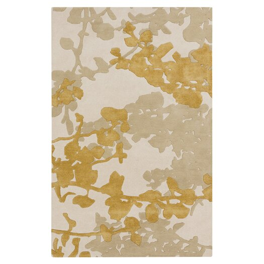 Organic Modern Bone/Orange Area Rug