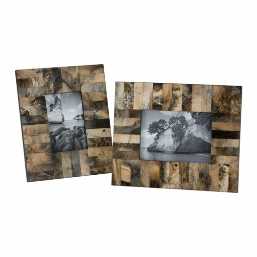 Lazy Susan USA Square Horn & Resin Picture Frame