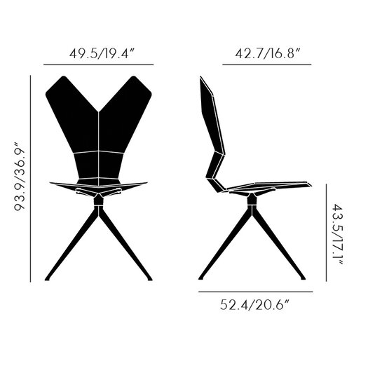 Tom Dixon Y Swivel Side Chair with Full Seat Pad & Back