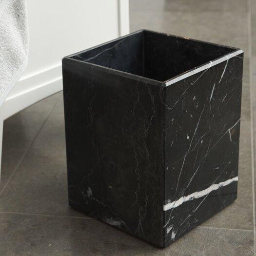 Waterworks Studio Luna Marble Wastebasket