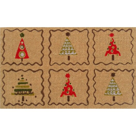 Home & More Christmas Trees Doormat