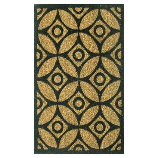 Home & More Circles and Stars Doormat