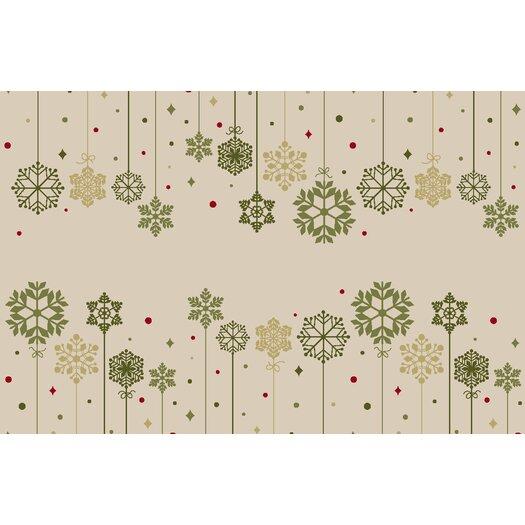 Brumlow Mills Snowflake Ornaments Novelty Area Rug