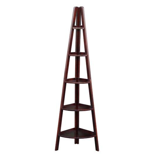 "Casual Home 72"" Corner Ladder Bookcase"