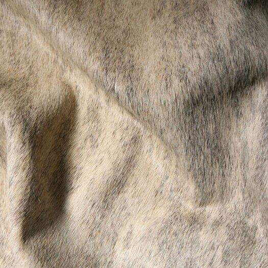 Pure Rugs Natural Cowhide Exotic Zebu Grey Area Rug