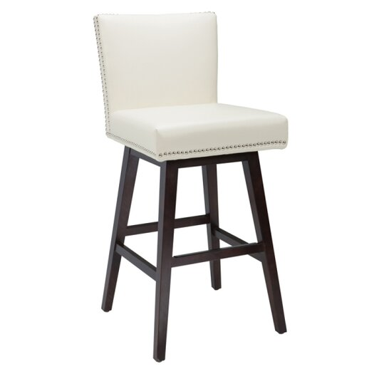 "Sunpan Modern Vintage 30"" Swivel Bar Stool with Cushion"