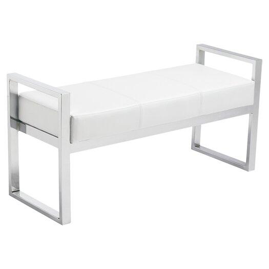 Sunpan Modern Darby Faux Leather Bench