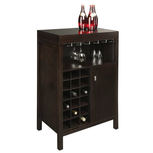 Sunpan Modern Philmore 18 Bottle Wine Bar
