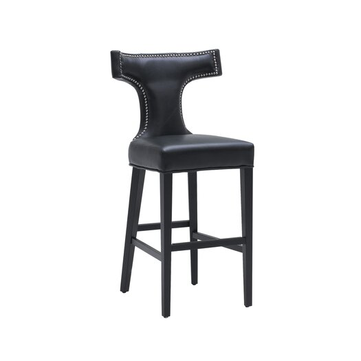 """Sunpan Modern Serafina 30"""" Bar Stool with Cushion"""