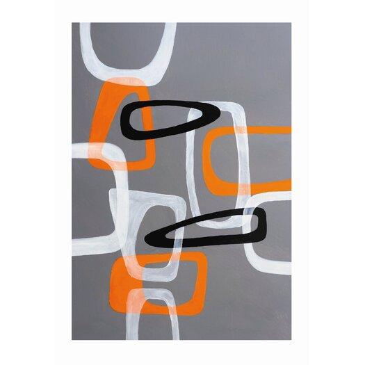 Sunpan Modern Retro Shapes Painting Print
