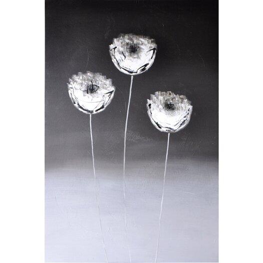 Sunpan Modern Three Flowers Graphic Art