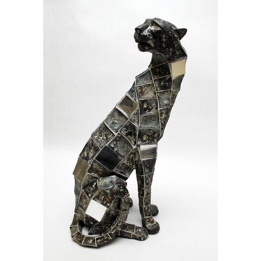 Vita V Home Mosaic Animal Leopard Sitting Figurine