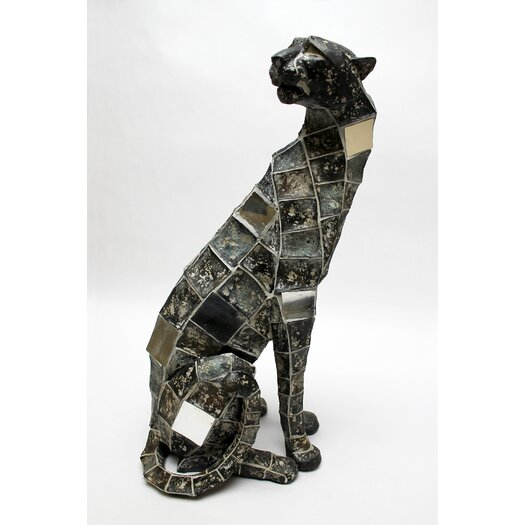 Vita V Home Mosaic Animal Leopard Sitting Figurine