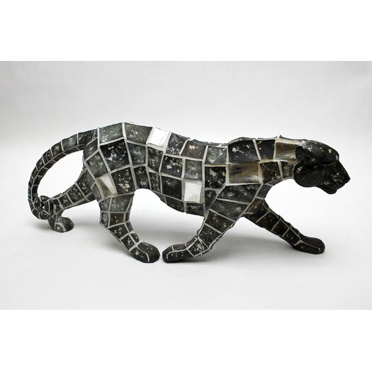 Vita V Home Mosaic Animal Leopard Walking Figurine