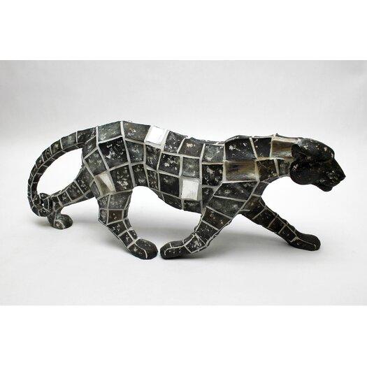 Vita V Home Mosaic Animal Leopard Walking Figurine