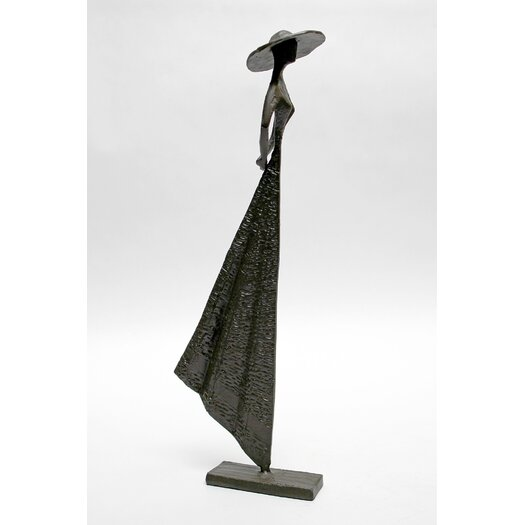 Vita V Home Woman in Hat Standing Statue