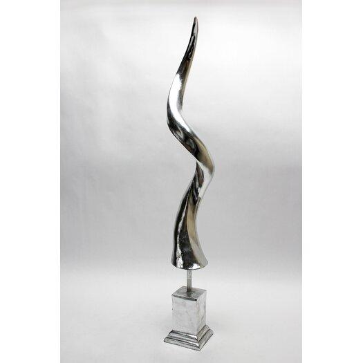 Vita V Home Silver Antelope Horn Sculpture