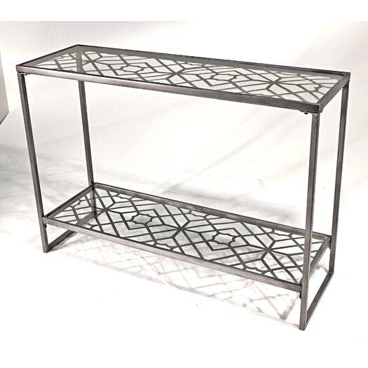Vita V Home Metal Filigree Console Table