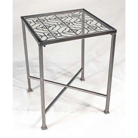 Vita V Home Metal Filigree End Table