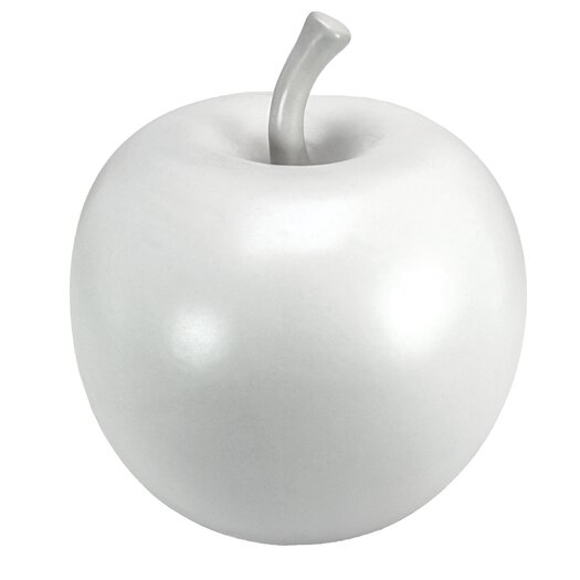 Vita V Home White Ceramic Apple Sculpture