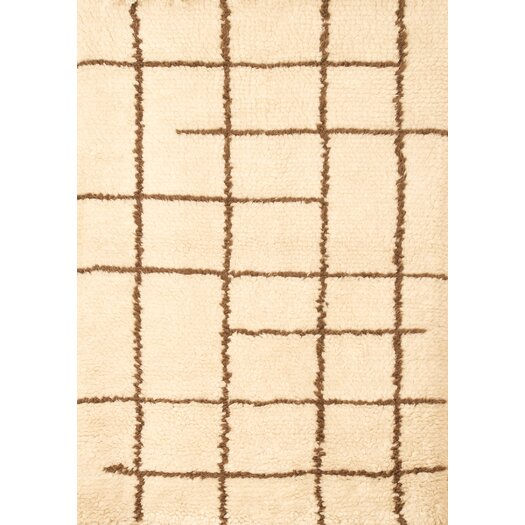 Abacasa Berber Off White/Chocolate Area Rug
