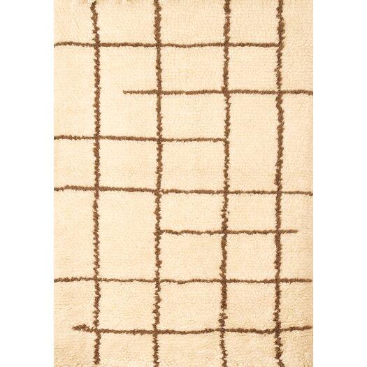 Abacasa Berber Off White/Chocolate Area Rug