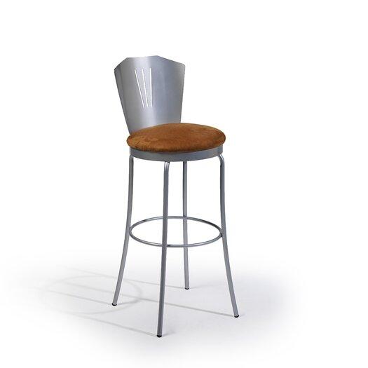 "Createch Spot 30"" Swivel Bar Stool with Cushion"