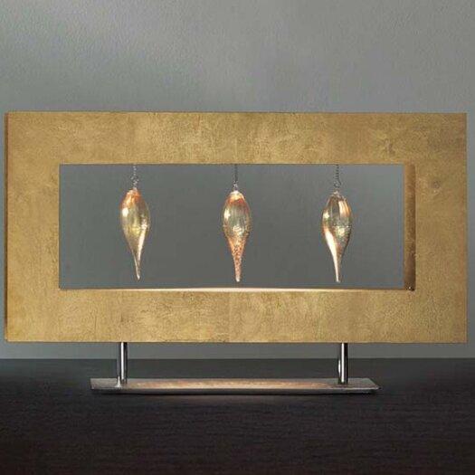 "Masiero Klok 3 Glass Drop 13.78"" H Table Lamp"