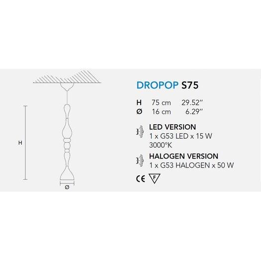 Masiero Dropop 1 Light Pendant