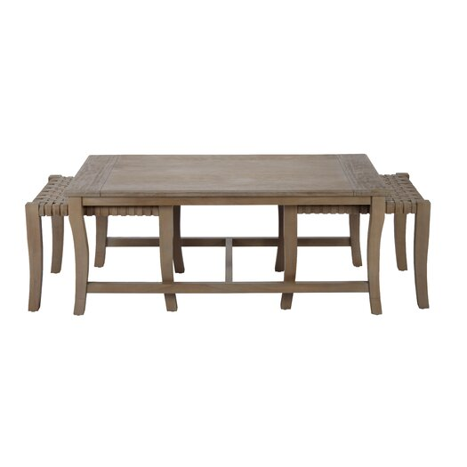 Selamat Sasha Coffee Table with Nested Stools