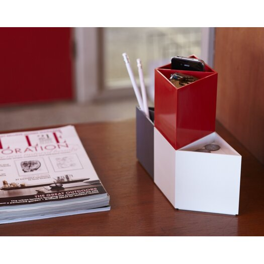 AMAC Rhombin 3 Piece Assorted Desktop Organizer