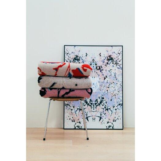 Scintilla Fox Lambswool Jacquard Woven Blanket