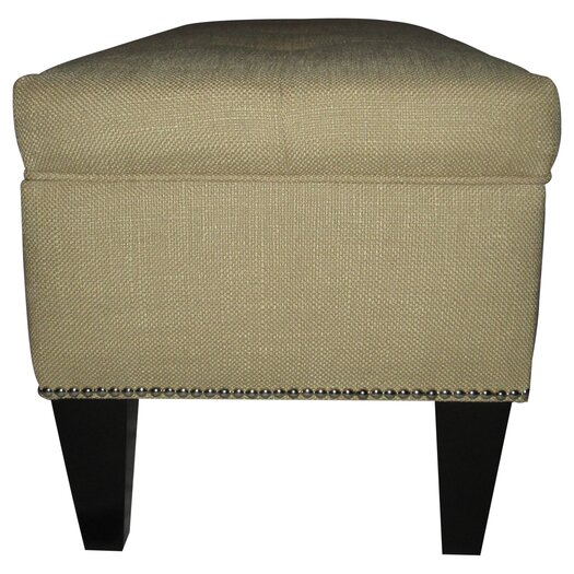 Sole Designs Brooke Upholstered Storage Bench in Sand