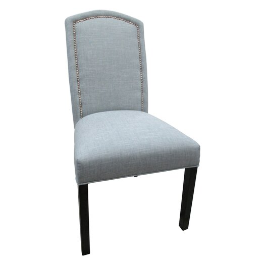 Sole Designs Nickel Cotton Parson Chair