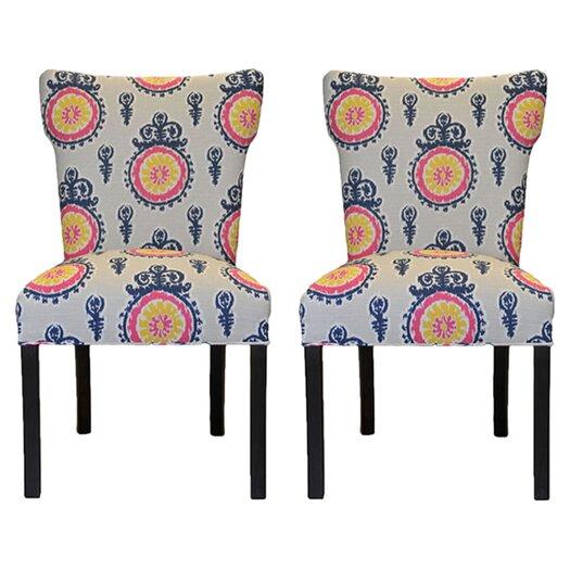 Sole Designs Calandra Cotton Wingback Cotton Slipper Chair