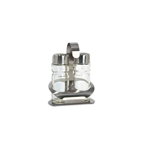 Cuisinox Salt and Pepper Shakers with Caddy in Brushed Satin