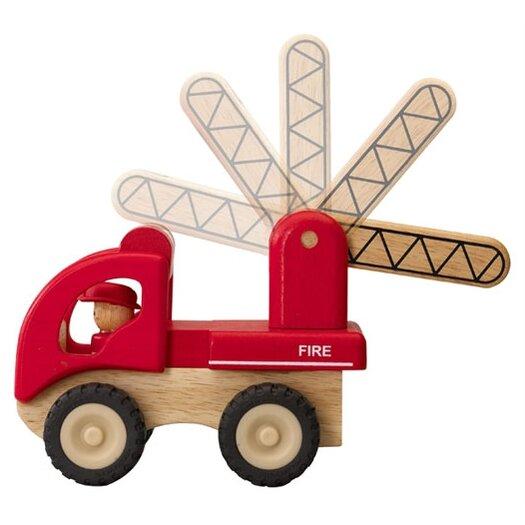 Wonderworld Mini Fire Engine Wooden Vehicle Truck