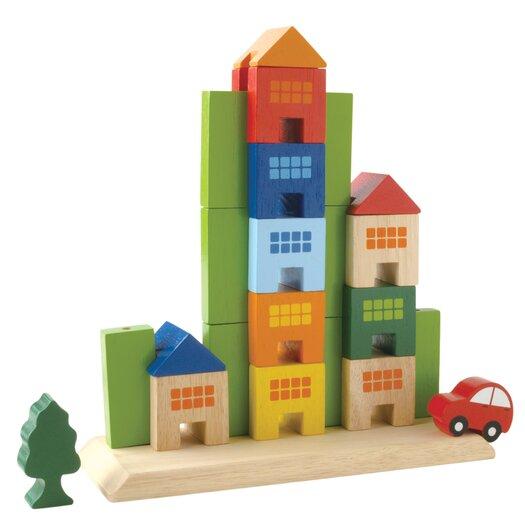 Wonderworld Sliding Town City Themed Building Blocks