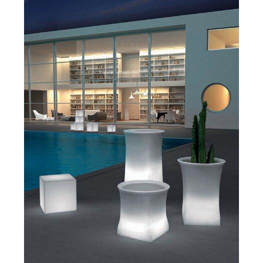 100 Essentials Brightness Illuminated Square Pot Planter