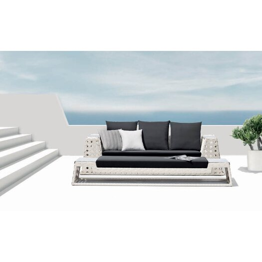 100 Essentials Happy Hour Sofa Bench with Cushion