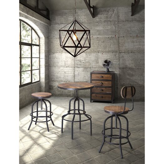 "Zuo Era Twin Peaks 30.3"" Swivel Bar Stool with Cushion"