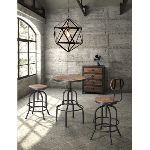 "Zuo Era Twin Peaks 34.6"" Swivel Bar Stool"