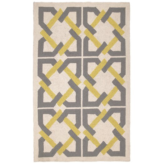 Trina Turk Residential Geometric Tile Yellow/Grey Area Rug